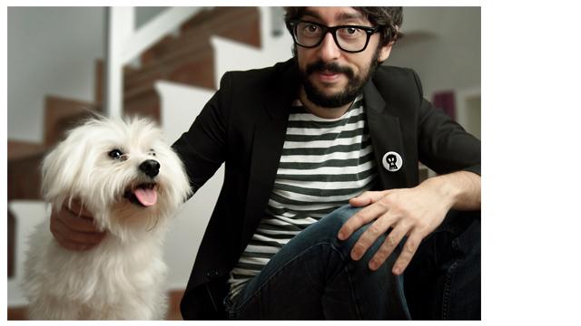 Retrato - Calendario benéfico 'APAP' - Enrique Pérez 'Flippy' y Rocky