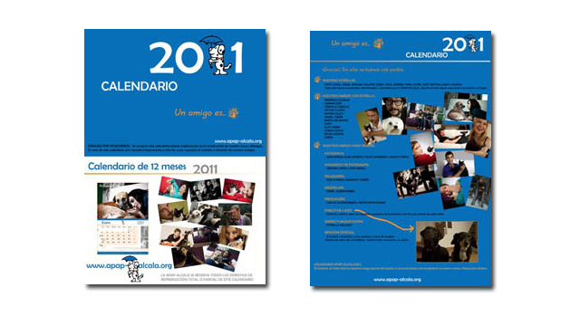 Retrato - Calendario benéfico 'APAP' - Portadas