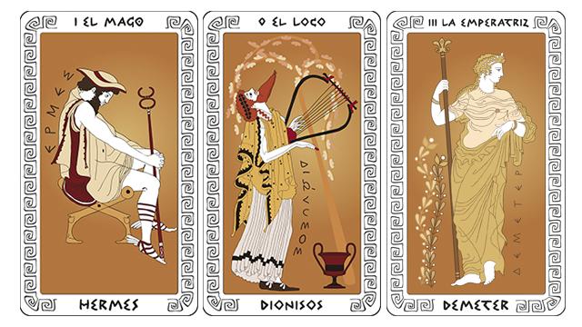 Ilustración - Tarot clásico - Hermes,Dionisos y Deméter