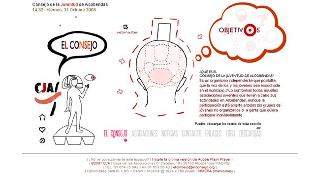 Consejo Juventud Alcobendas - Diseño y maquetación Flash