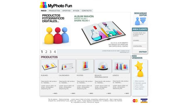 MyPhotoFun - Diseño y maquetación