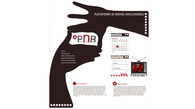 Plataforma Nuevos Realizadores - Diseño y maquetación