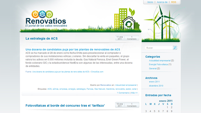 Renovatios, el portal de los vatios renovables (Blog WordPress)