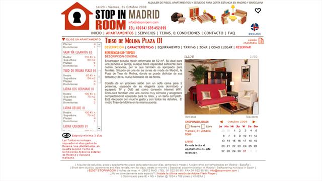 Stop-In ROOM - Diseño, maquetación y desarrollo en Flash