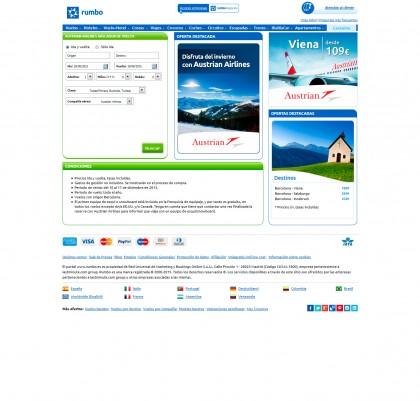 rumbo landing Austrian Airlines
